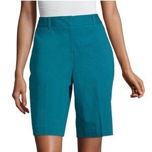 Turquoise, teal Worthington Bermuda shorts size 16